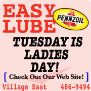 EASY LUBE WHERE LADIES SAVE EVERY TUESDAY!